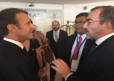 President Macron at Signing Ceremony with Nemoante Partners – Engie Executives